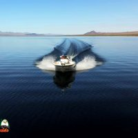 Bass Fishing Jade Green Clear Water of Lake Mohave